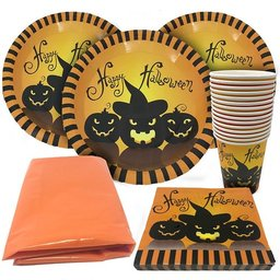 Lot de vaisselle jetable Halloween
